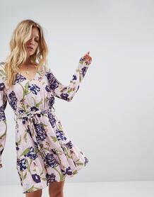 Платье с запахом и цветочным принтом Minkpink - Мульти 1232655