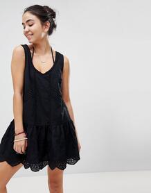 Ярусное пляжное платье мини Minkpink Gardenia - Черный 1169946