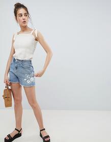 Джинсовые шорты с вышивкой Pimkie - Синий 1276539