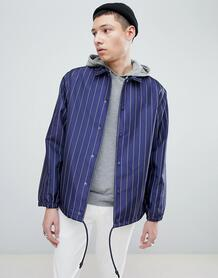 Темно-синяя спортивная куртка в тонкую полоску Mennace - Темно-синий 1255370