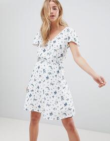 Чайное платье с принтом Jack Wills - Белый 1250529
