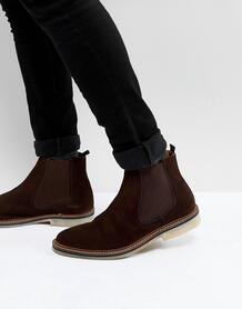 Коричневые замшевые ботинки челси Walk London Darcy - Коричневый 1216592
