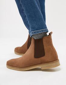 Светло-коричневые замшевые ботинки челси Walk London Hornchurch 1216550