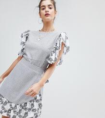 Комбинированное платье с запахом Reclaimed Vintage inspired - Мульти 1275670