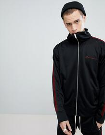 Черная спортивная куртка с полосками Mennace - Черный 1272042
