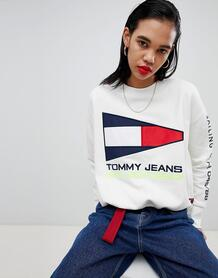 Свитшот с логотипом Tommy Jeans 90s Capsule 5.0 - Белый 1280028