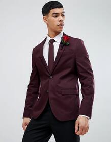 Бордовый облегающий блейзер River Island Wedding - Красный 1238944