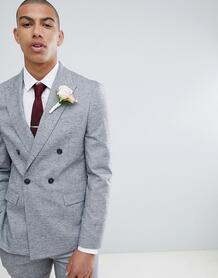 Серый пиджак зауженного кроя River Island Wedding - Серый 1238917