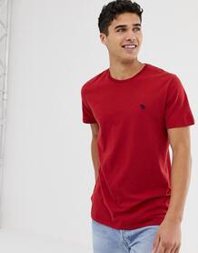 Красная футболка с круглым вырезом и логотипом Abercrombie & Fitch Abercrombie& Fitch 1253891