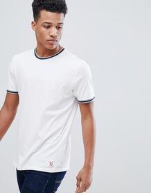 Белая университетская футболка с окантовкой Abercrombie & Fitch Abercrombie& Fitch 1253796