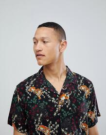 Рубашка с отложным воротником и короткими рукавами Brave Soul - Черный 1220185