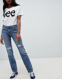Потертые джинсы в стиле 90-х Lee - Синий 1237680