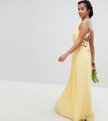 Плиссированное платье макси с перекрестной отделкой на спине TFNC Peti TFNC Petite 1219867