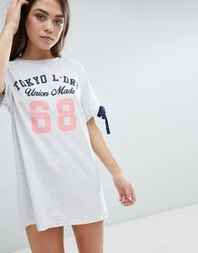 Платье-футболка Tokyo Laundry Lexi - Белый 1231048