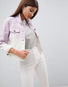 Джинсовая куртка с эффектом омбре Noisy May - Фиолетовый 1238626