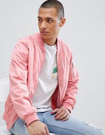 Нейлоновый бомбер на молнии D-Struct - Розовый 1200571