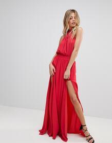 Платье макси с разрезом The Jetset Diaries Shale - Красный 1138819