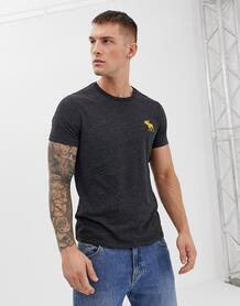 Черная меланжевая футболка Abercrombie & Fitch - Черный Abercrombie& Fitch 1253793