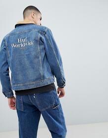 Джинсовая куртка с вышивкой на спине HUF Brooklyn - Синий 1244906