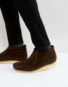 Коричневые замшевые ботинки Clarks Originals - Коричневый 1217211