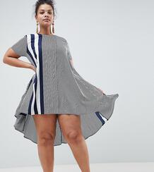 Свободное платье в полоску AX Paris Plus - Мульти 1235313