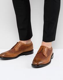 Светло-коричневые кожаные броги PS Paul Smith Malloy - Рыжий 1238410