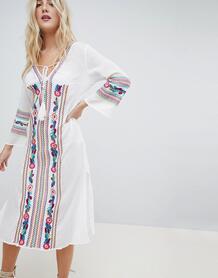 Пляжное платье с вышивкой Liqourish - Белый Liquorish 1172476
