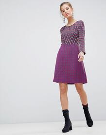 Приталенное платье 2-в-1 с длинными рукавами Traffic People - Черный 1262000