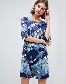 Цельнокройное платье с цветочным принтом Lavand - Темно-синий 1226494