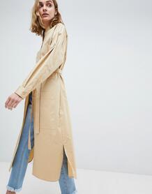Платье-рубашка в стиле oversize ASOS WHITE - Светло-бежевый 1237106
