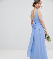 Платье макси с запахом и завязкой на спине TFNC Petite - Синий 1181748