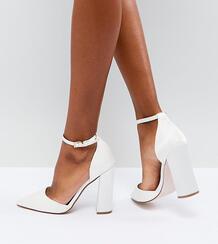 Туфли на высоком каблуке с острым носом ASOS PEBBLE Bridal - Кремовый ASOS DESIGN 1213586
