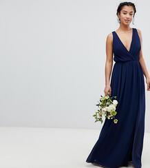 Платье макси с плиссировкой TFNC Petite - Темно-синий 1181366