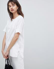 Блузка с отворотами на рукавах Selected Femme - Белый 1242964