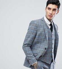 Облегающий пиджак из твида Харрис в клетку Heart & Dagger - Серый 1180124