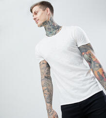 Обтягивающая футболка с вышивкой Heart & Dagger - Белый 1225439