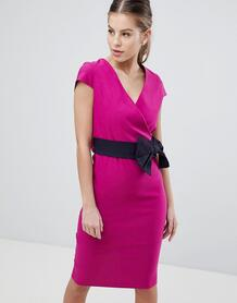Платье-футляр с бантом Vesper - Розовый 1255838