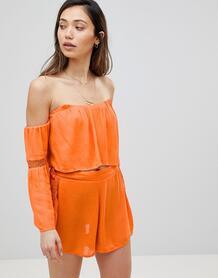 Пляжный топ с открытыми плечами Influence - Оранжевый 1216061