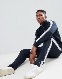 Спортивные штаны с нашивкой Selected Homme - Темно-синий 1241106