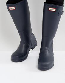 Синие высокие резиновые сапоги Hunter оriginal - Черный 1227805