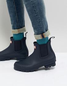 Темно-синие ботинки челси Hunter оriginal - Темно-синий 1254785