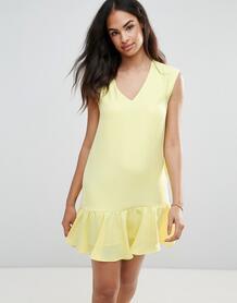 Платье с оборкой по нижнему краю FRNCH - Желтый 1132745