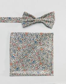 Галстук-бабочка и платок для нагрудного кармана с принтом Gianni Ferau Gianni Feraud 1233458