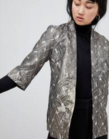 Жаккардовая куртка с эффектом металлик b.Young - Золотой 1112025