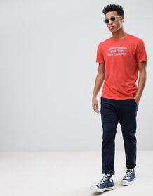 Красная футболка с логотипом Abercrombie & Fitch - Красный Abercrombie& Fitch 1253901