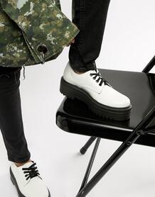 Туфли на массивной подошве ASOS DESIGN Menace - Белый 1267584