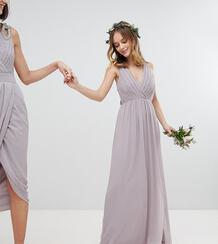 Платье макси с плиссировкой TFNC Petite - Серый 1181409
