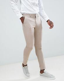 Облегающие брюки Selected Homme - Светло-бежевый 1160678