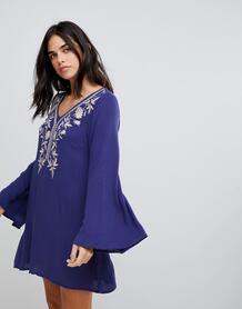 Платье с вышивкой Lunik - Синий 1139791