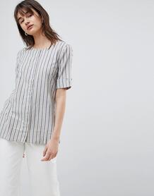 Блузка в полоску с отворотами на рукавах Selected Femme - Мульти 1242966